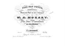 Vollständige Satz: Bearbeitung für Klavier, vierhändig by Wolfgang Amadeus Mozart