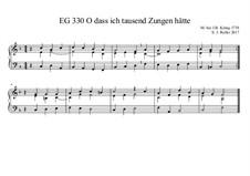 O dass ich tausend Zungen hätte (F-Dur) EG 330: O dass ich tausend Zungen hätte (F-Dur) EG 330 by Joachim Roller