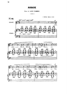 Drei Lieder, Op.6: No.1 Aubade by Gabriel Fauré