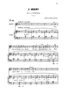 Drei Lieder, Op.5: No.3 L'absent, for high voice by Gabriel Fauré