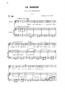 Drei Lieder, Op.8: No.2 La rançon, for high voice by Gabriel Fauré