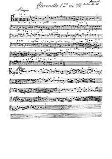 Vollständiger Teile: Klarinettenstimme I by Wolfgang Amadeus Mozart