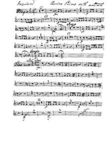 Vollständiger Teile: Clarinostimme I by Wolfgang Amadeus Mozart