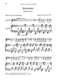 Poème d'un jour, Op.21: No.1 Poéme d'un jour (Rencontre) by Gabriel Fauré