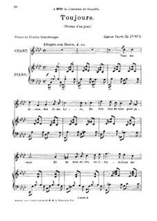 Poème d'un jour, Op.21: No.2 Poème d'un jour (Toujours) by Gabriel Fauré