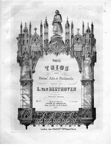 Drei Streichtrios, Op.9: Violastimme by Ludwig van Beethoven