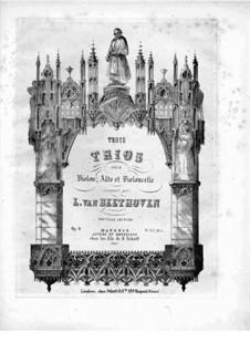 Drei Streichtrios, Op.9: Violinstimme by Ludwig van Beethoven