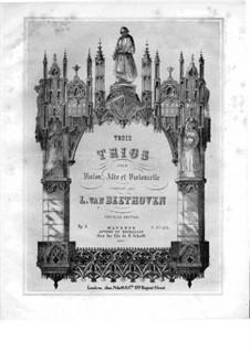 Drei Streichtrios, Op.9: Cellostimme by Ludwig van Beethoven
