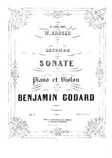 Sonate für Violine und Klavier Nr.2, Op.2: Partitur by Benjamin Godard