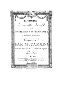 Symphonies Concertantes: Second Suite, No.4 for two violins and orchestra by Giuseppe Maria Cambini