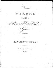 Zwölf Stücke für Flöte, Bratsche und Gitarre: Zwölf Stücke für Flöte, Bratsche und Gitarre by Johann Nepomuk Kapeller