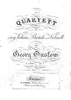 Drei Streichquartette Nr.4-6, Op.8: Völlstandiger Satz by Georges Onslow