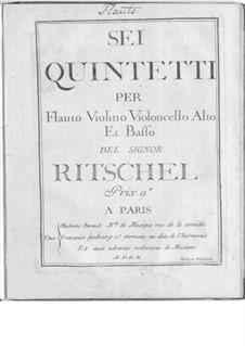 Sechs Quintette für Flöte und Streicher: Sechs Quintette für Flöte und Streicher by Georg Wenzel Ritschel