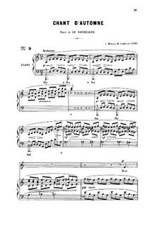 Drei Lieder, Op.5: No.1 Chant d'automne, for medum voice by Gabriel Fauré