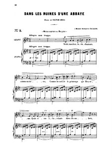 Zwei Lieder, Op.2: No.1 Dans le ruines d'une abbaye (In the Ruins of an Abbey), for medium voice by Gabriel Fauré