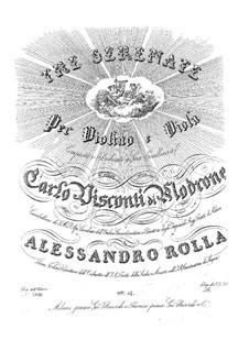 Drei Serenaden für Violine und Bratsche, BI 47, 100, 73 Op.14: Stimmen by Alessandro Rolla