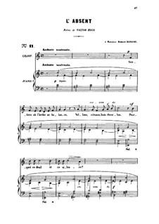 Drei Lieder, Op.5: No.3 L'absent, for medium voice by Gabriel Fauré