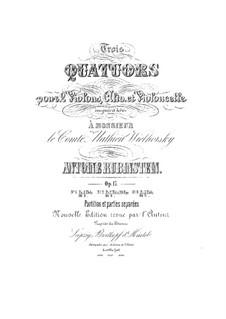Quartett für Streicher Nr.3 in F-Dur, Op.17 No.3: Stimmen by Anton Rubinstein
