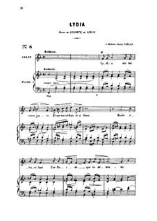Zwei Lieder, Op.4: No.2 Lydia, for medium voice by Gabriel Fauré