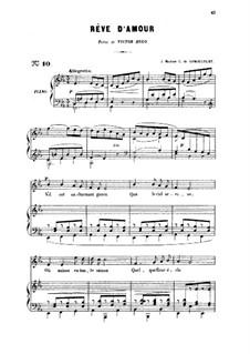 Drei Lieder, Op.5: No.2 Rêve d'amour, for medium voice by Gabriel Fauré