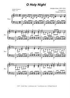 O hehre Nacht, für Klavier: Für einen Interpreten by Adolphe Adam