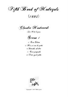 Heft 5 (für fünf Stimmen), SV 94–106: Scena 1 (Nos.4-8). Arrangement for quintet instruments by Claudio Monteverdi