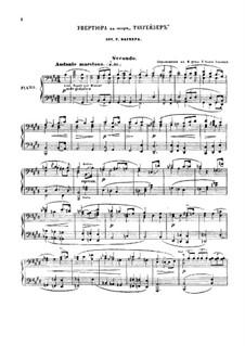 Fragmente: Ouvertüre, für Klavier, vierhändig – Stimmen by Richard Wagner
