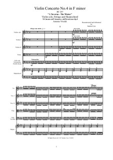 Violinkonzert Nr.4 in f-Moll 'Winter', RV 297: Vollpartitur, Stimmen by Antonio Vivaldi