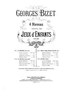 No.2 La toupie: Für Violine und Klavier by Georges Bizet