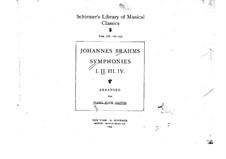 Vollständiger Satz: Version für Klavier, vierhändig by Johannes Brahms