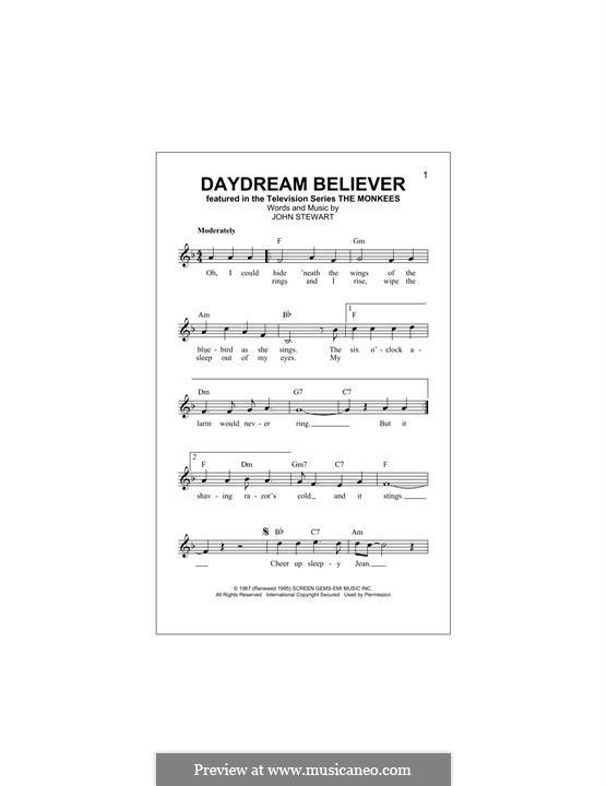 Daydream Believer (The Monkees): Melodische Linie by John Stewart