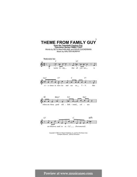 Theme from Family Guy: Melodische Linie by David Zuckerman, Seth MacFarlane, Walter Murphy