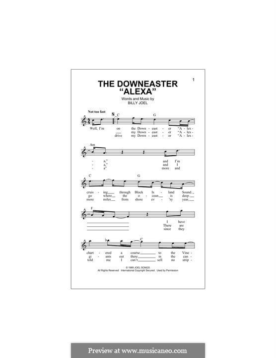 The Downeaster 'Alexa': Melodische Linie by Billy Joel
