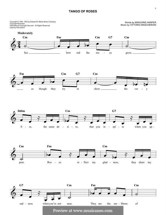 Tango of Roses: Melodische Linie by Vittorio Mascheroni