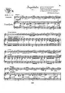 Pensées fugitives, Op.30: Juquiétude, for violin and piano by Stephen Heller, Heinrich Wilhelm Ernst