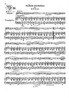 Thême original et variations: Thême original et variations by Heinrich Wilhelm Ernst