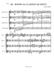 Clarinet Quartet: Rondo. Movement III by Gary Mosse