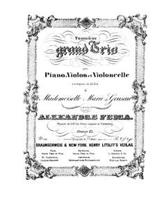 Klaviertrio Nr.3 in G-Dur, Op.23: Klavierstimme by Alexander Fesca