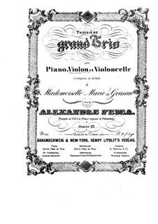 Klaviertrio Nr.3 in G-Dur, Op.23: Violinstimme by Alexander Fesca