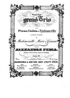 Klaviertrio Nr.3 in G-Dur, Op.23: Cellostimme by Alexander Fesca