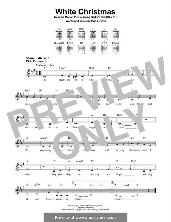 White Christmas. Instrumental version: Für Gitarre mit Tabulatur by Irving Berlin