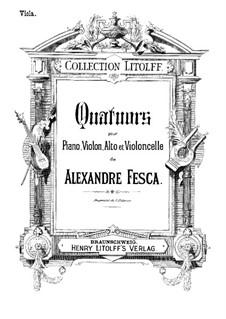 Klavierquartett No.1, Op.26: Violastimme by Alexander Fesca