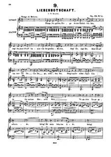 Sechs Lieder, Op.29: Nr.1 Liebesbotschaft by Alexander Fesca