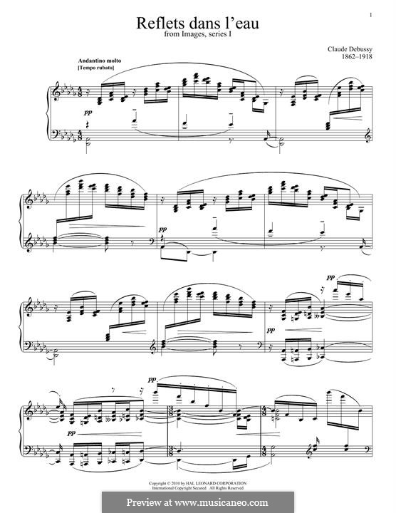 Reflets Dans L'eau: Reflets Dans L'eau by Claude Debussy