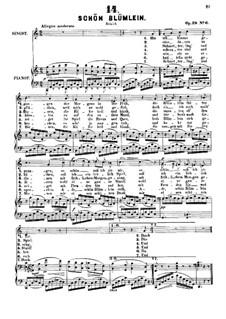 Sechs Lieder, Op.29: Nr.6 Schön Blümlein by Alexander Fesca