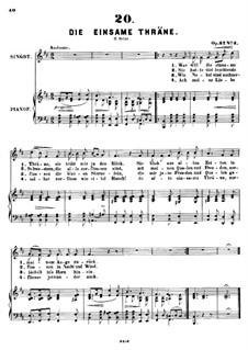 Sechs Lieder, Op.32: Nr.3 Die einsame Thräne by Alexander Fesca