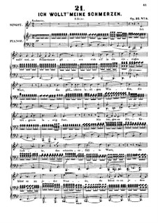 Sechs Lieder, Op.32: Nr.5-6 by Alexander Fesca