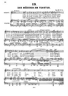 Sechs Lieder, Op.32: Nr.4 Das Mädchen am Fenster by Alexander Fesca