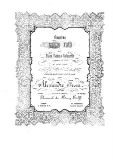 Klaviertrio Nr.5 in h-Moll, Op.46: Klavierstimme by Alexander Fesca