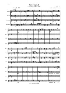 Past 2 o'clock: Für Flötenquartett by folklore, David W Solomons